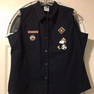 Peanuts Scout Snoopy Vest Womens XL Troop Leader